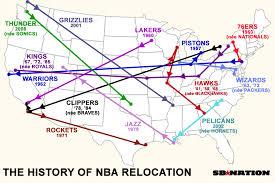 History of NBA Team Relocation | Sport$Biz | Martin J. Greenberg Sports Law