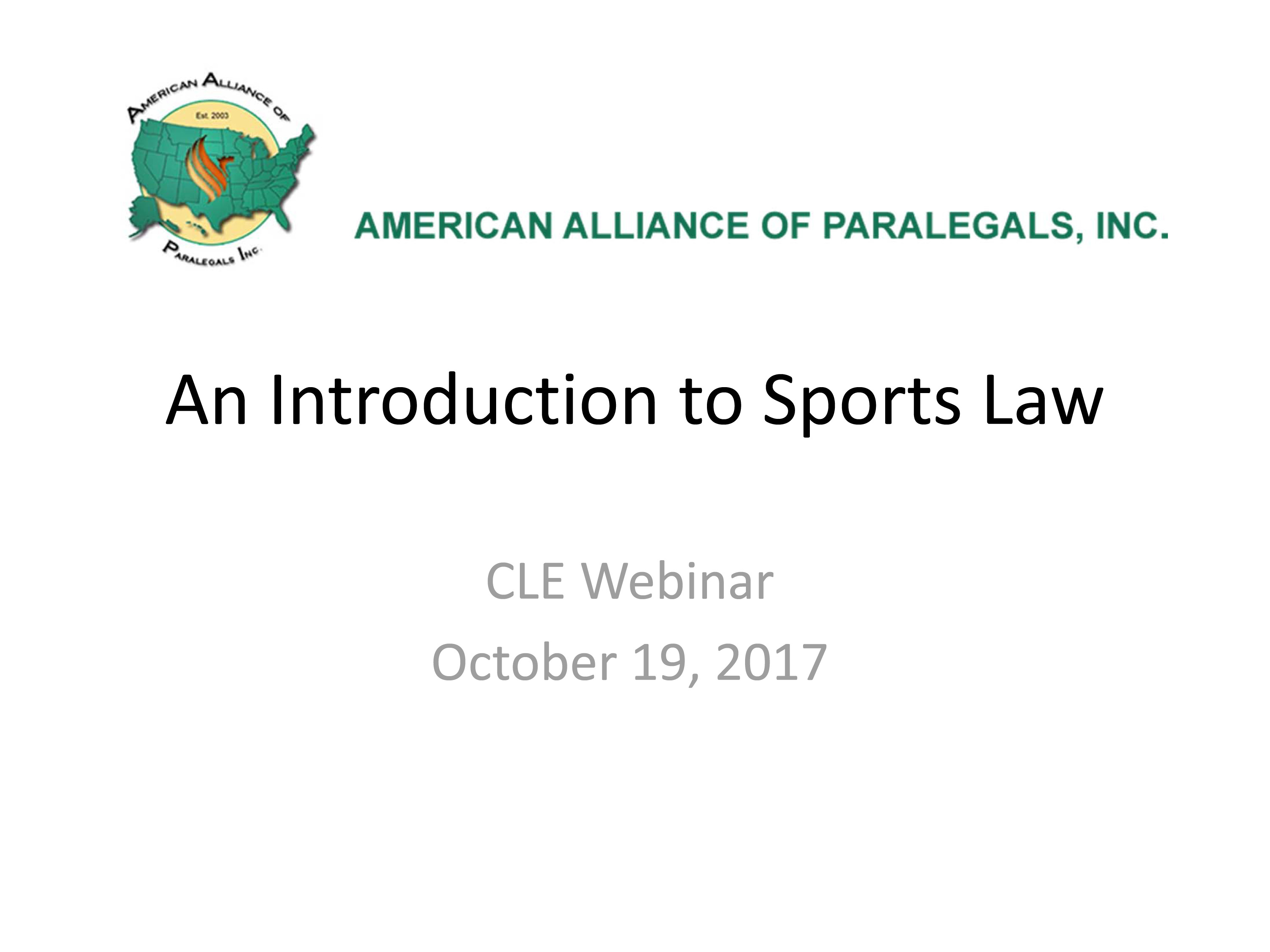 Introduction to Sports Law - Martin J. Greenberg - Sports Attorney