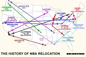 History of NBA Team Relocation | Sport$Biz | Martin J. Greenberg Sports Law