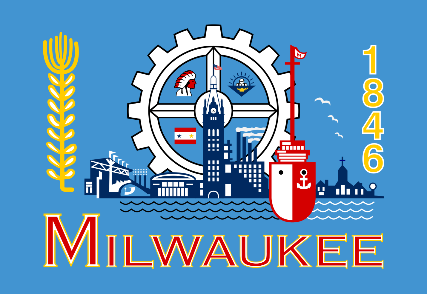 Milwaukee Wisconsin Flag